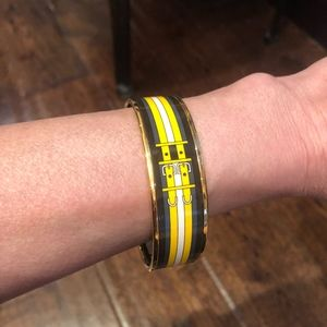 Authentic Hermes Enamel Bracelet yellow and black